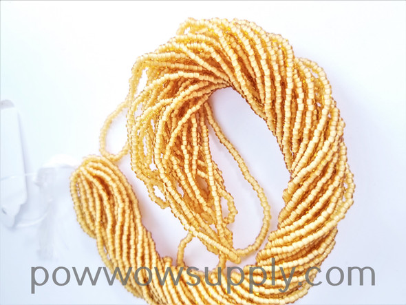 11/0 Seed Beads White Lined Topaz