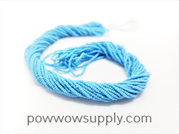 16/0 Seed Beads Opaque Sky Blue
