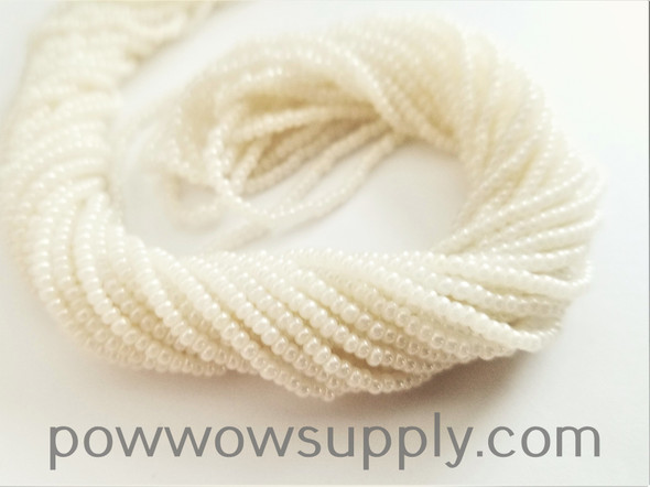 12/0 Seed Beads Pearl Offwhite