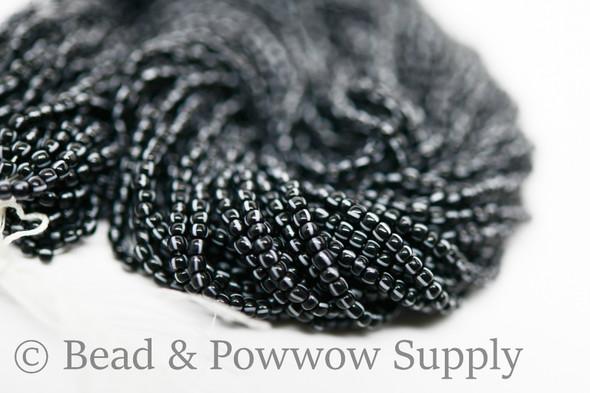 11/0 Seed Bead Striped White on Black