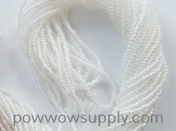 11/0 Seed Beads White Lined Crystal