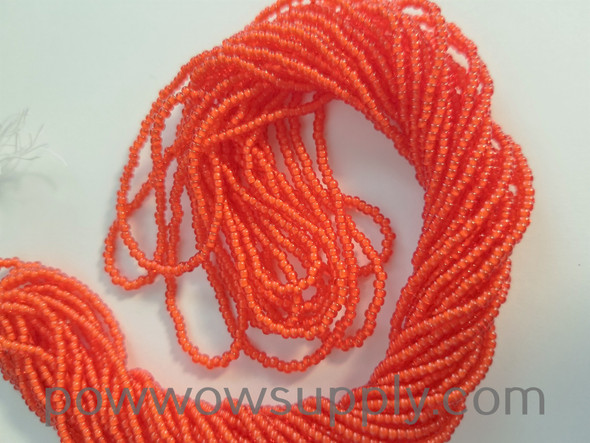 11/0 Seed Beads White Lined Light Red