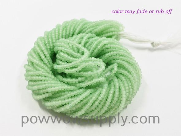 11/0 Seed Beads Opal Light Jade (tint)