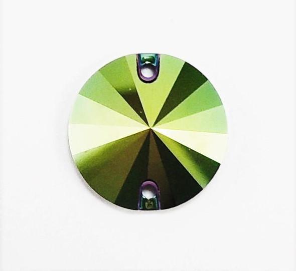 3200 Rivoli 10mm Scarabeus Green (sold individually)