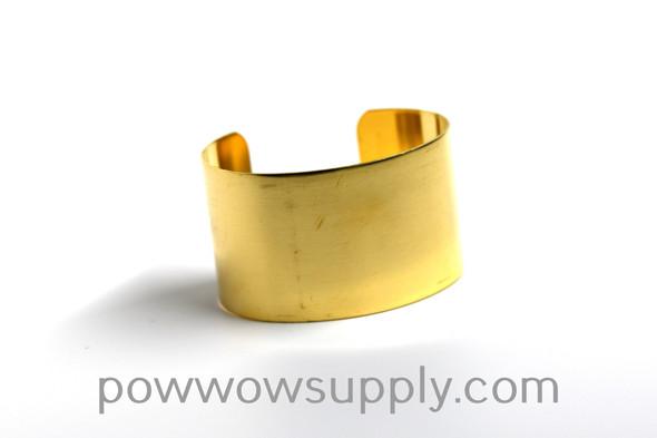 """1 1/8"""" Raw Brass Cuff"""