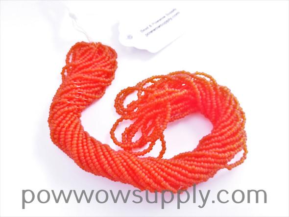 11/0 Seed Beads Transparent Matte Dark Orange