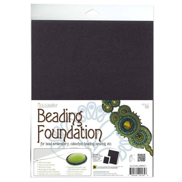Beading Foundation 8.5x11 Black (4pc)