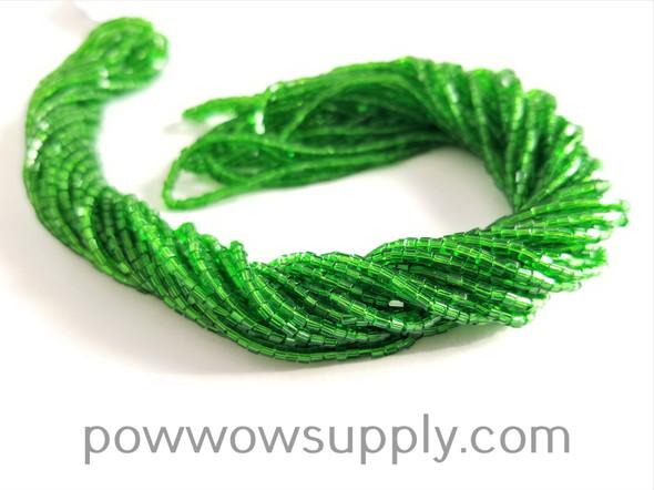 11/0 2-cuts Transparent Green
