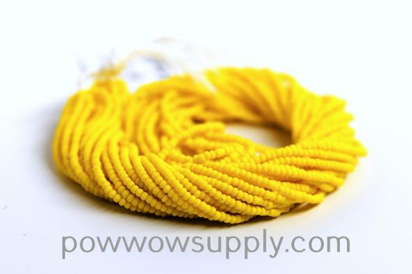11/0 Seed Beads Opaque Matte Golden Yellow
