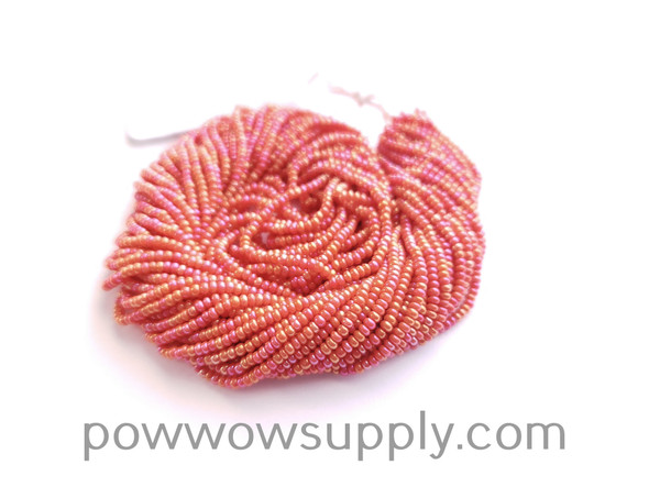 11/0 Seed Beads Opaque AB Orange