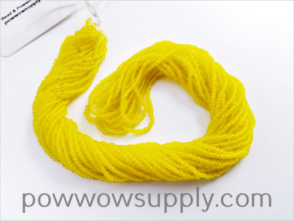 11/0 Seed Beads Transparent Matte Yellow