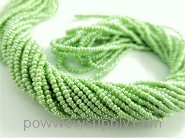 11/0 Seed Beads Opaque Luster Lime