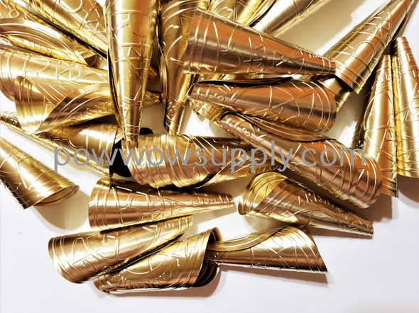 Anishinaabe Bimishimo Adult Brass Rolled Jingles (100 jingles)