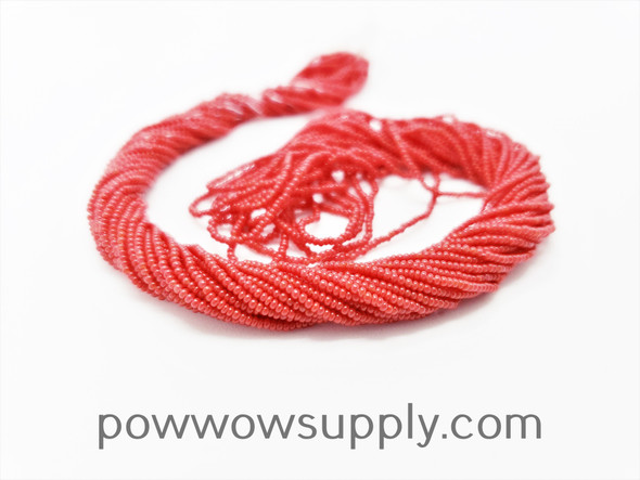 16/0 Seed Beads Opaque Dark Red