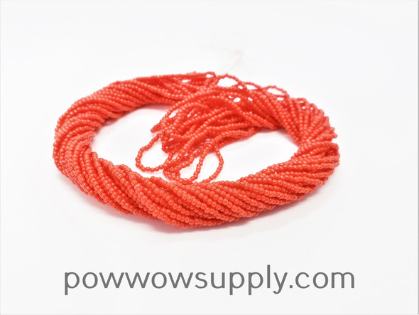 16/0 Seed Beads Opaque Light Red (2nd Quality)