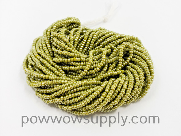 11/0 Seed Beads Opaque Luster Olive