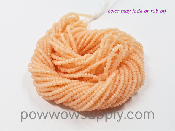 11/0 Seed Beads Opal Apricot (tint)
