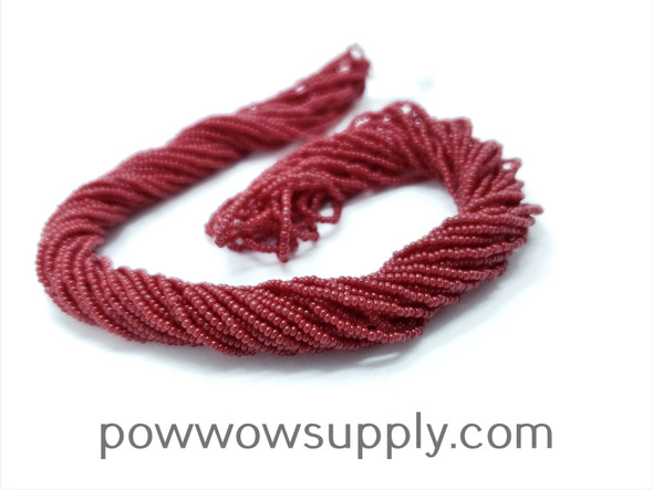 16/0 Seed Beads Opaque Burnt Red