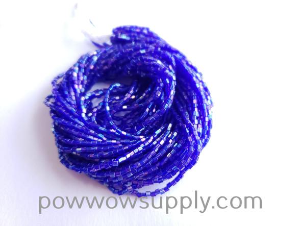 11/0 2-cuts Transparent Aurora Borealis Cobalt