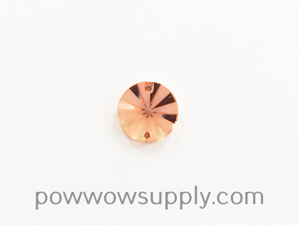 3200 Rivoli 14mm Crystal Rose Peach Partly Frosted (sold individually)