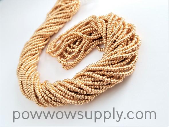 13/0 Seed Beads Metallic Gold
