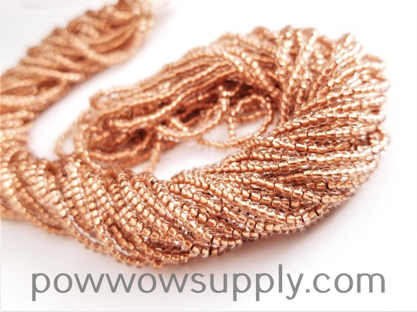 11/0 Seed Beads Crystal-Copper Lined