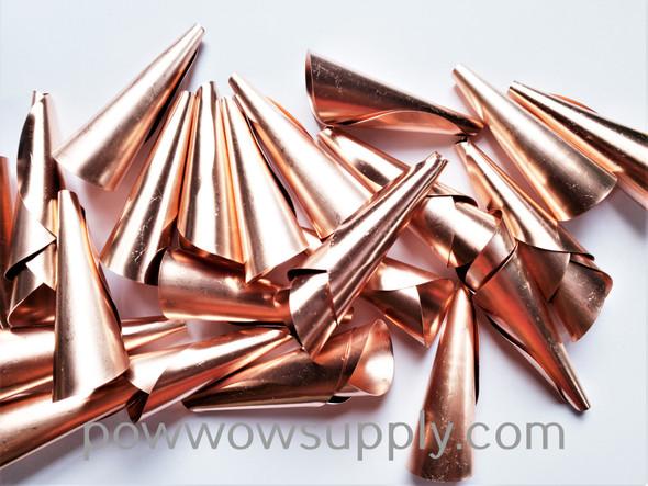 Anishinaabe Bimishimo Adult Copper Plain Rolled Jingles (100 jingles)