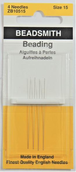 Size 15 Beading Needles (4 pack)