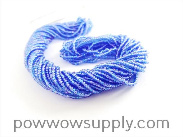 11/0 Seed Beads Transparent AB Light Sapphire