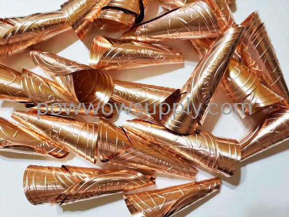 Anishinaabe Bimishimo Adult Copper Rolled Jingles (100 jingles)