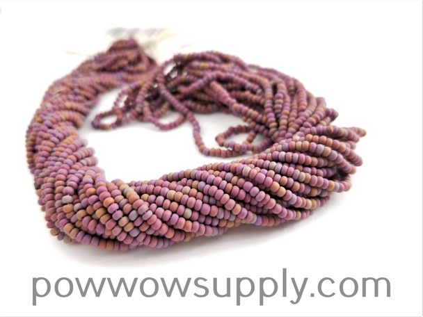 11/0 Seed Beads Opaque AB Matte Light Brown