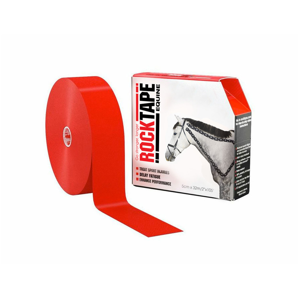 RockTape Equine 32m by 5cm Red