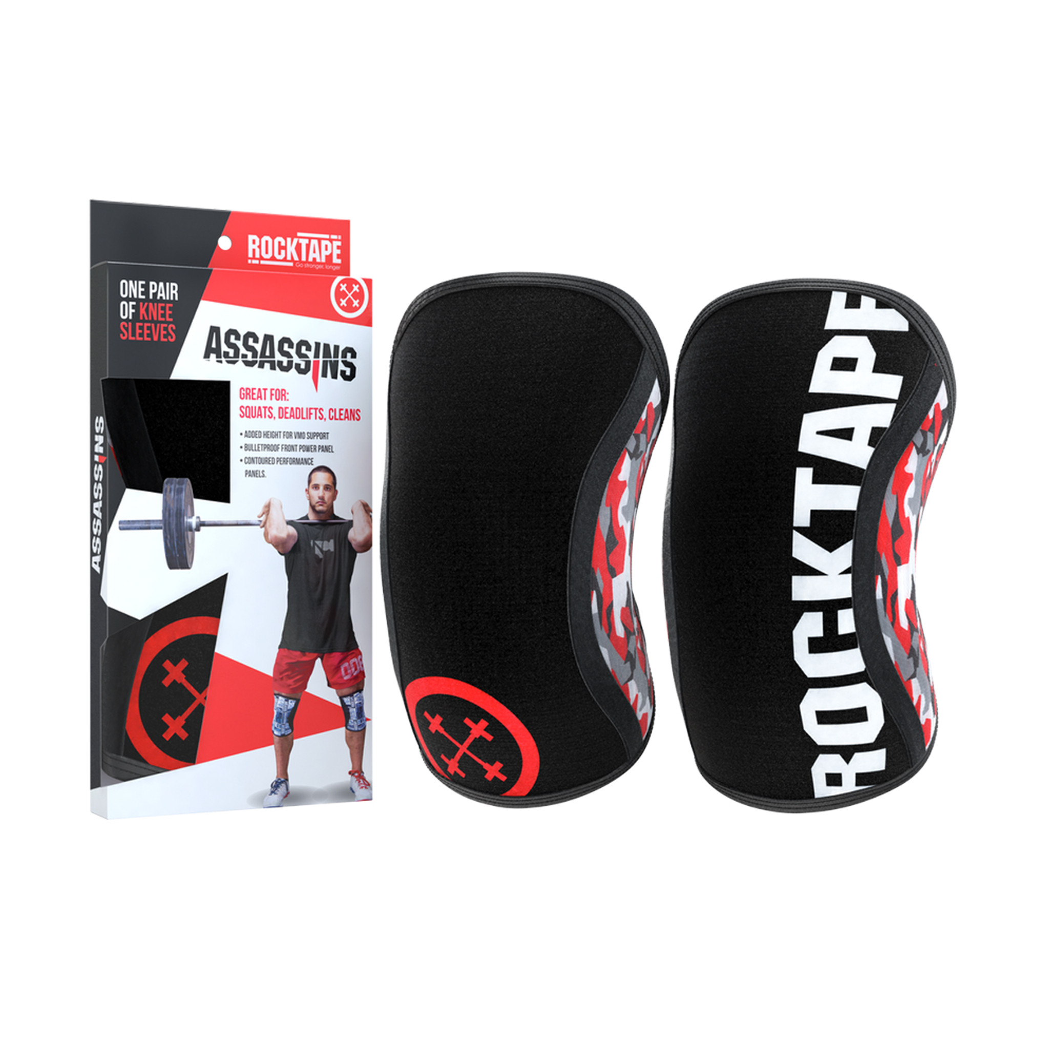 40b05be0ae RockTape Assassins Knee Sleeves - Red Camo