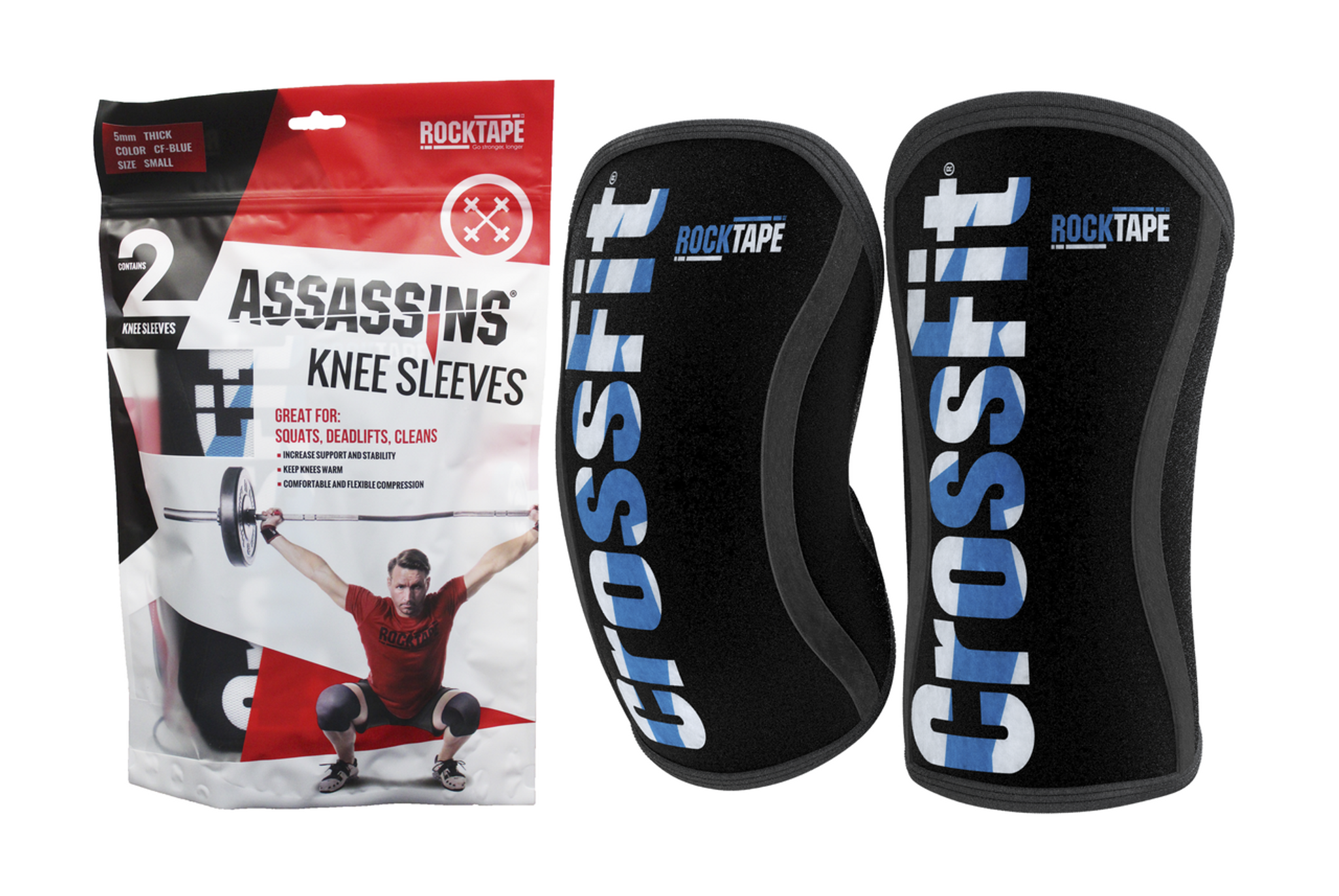 Rogue Kettlebells Source · RockTape Assassins Knee Sleeve CrossFit Blue  Rocktape Australia 4e270071c