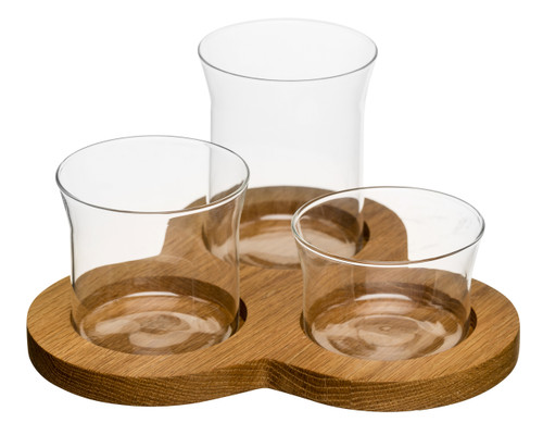 Oak serving set, 4 pcs