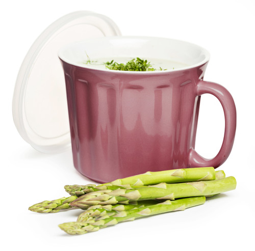 Soup mug with lid