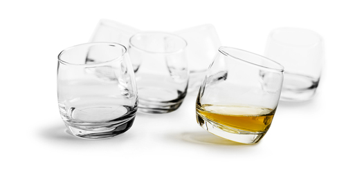 Bar Whiskey glasses, rounded base, 6-pack