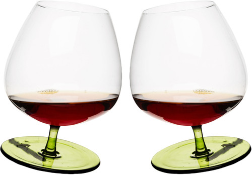 Rocking brandy glass, rounded base, 2-pack