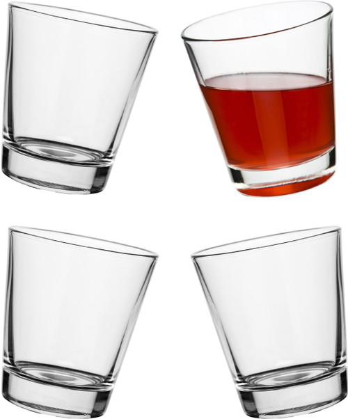 Rocking multi purpose glass 4-pack
