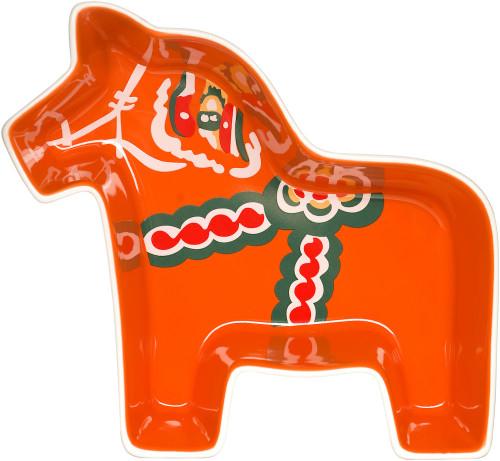 Dala horse serving bowl