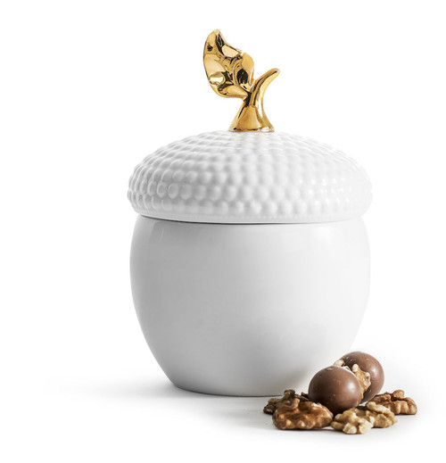 Acorn bowl with lid