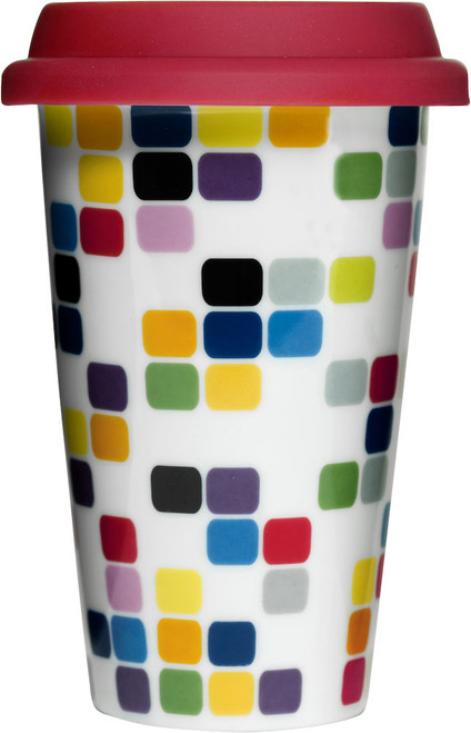 Pix travel mug with silicone lid