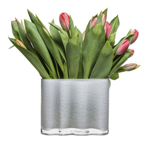 Siluett vas, white