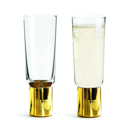 Club champagne glass gold, 2-pack