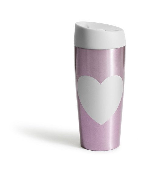 Travel mug with locking function heart, pink