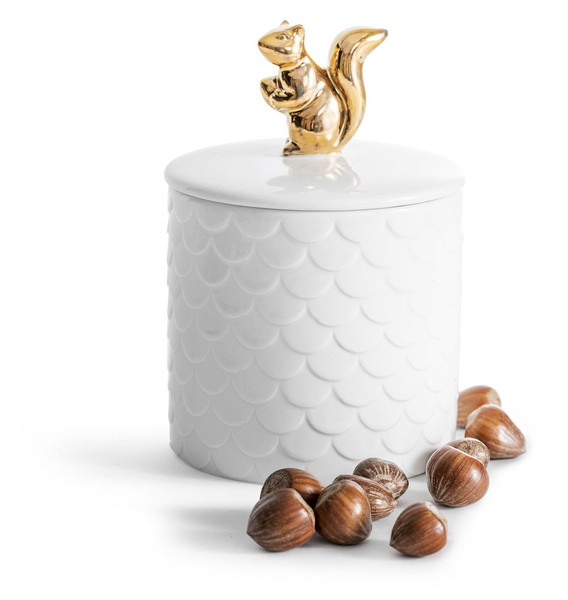 Squirrel container with lid