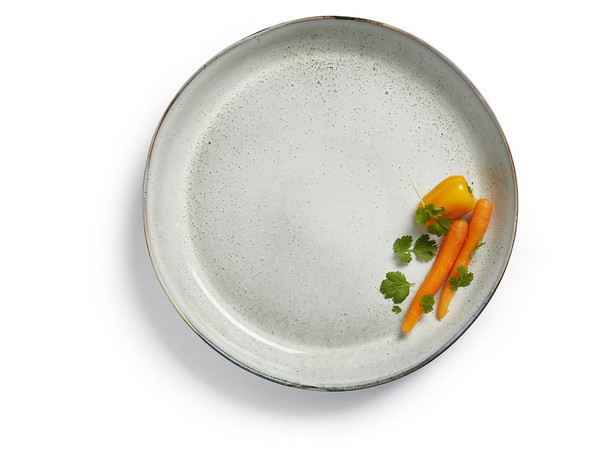 Nature serving plate light grey