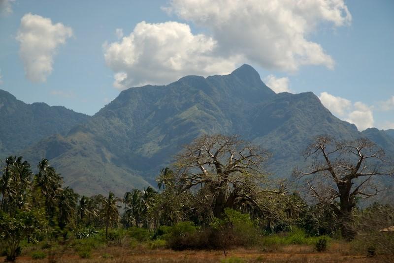 Uluguru Mountains just beyond the Kimboza Forest Reserve in Morogoro, Tanzania.