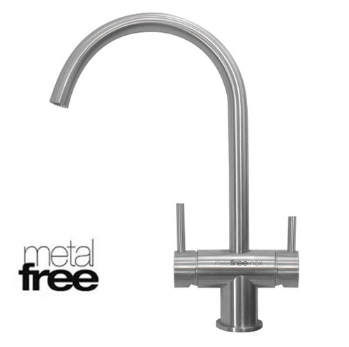 Sleek, elegant Barcelona metal free, three way filter tap ideal for us with RO purifierse