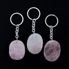 Rose Quartz Crystal Keyring